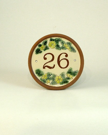 House numbers ceramic house sign pottery Archives - Lucienne